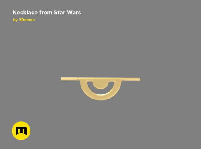 Necklace Emilia Clarke from Star Wars Solo movie 3D print model