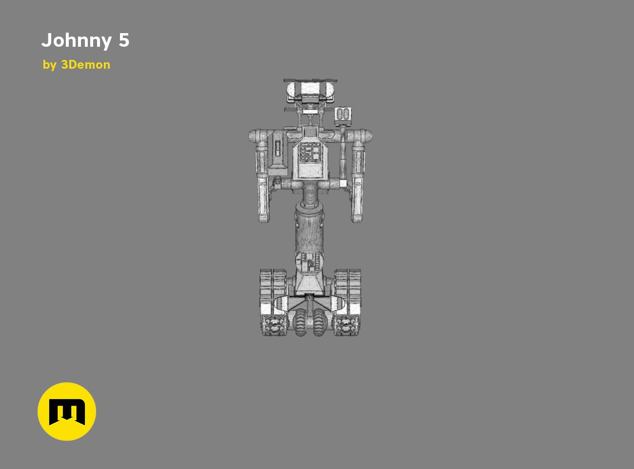 johnny 5  u2013 3demon  u2013 3d print models download
