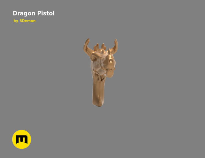 Fantasy Dragon Pistol 3D print model
