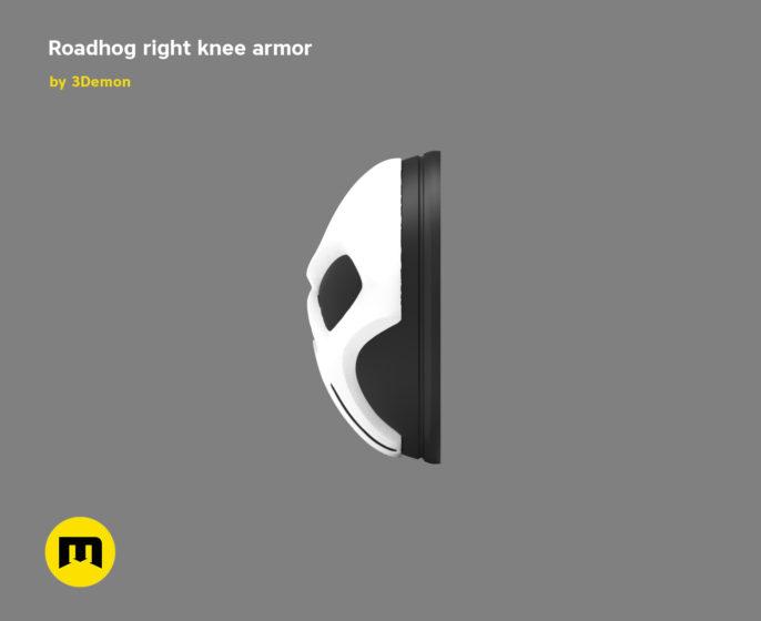 Roadhog right knee armor 3D print model