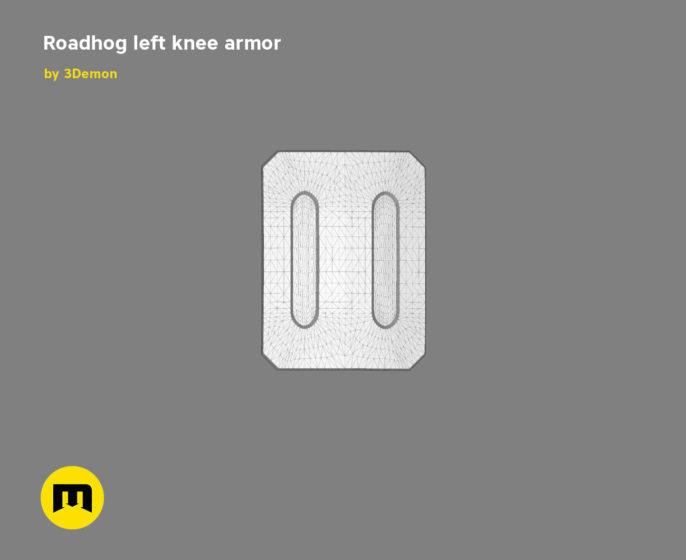 Roadhog left knee armor 3D print model