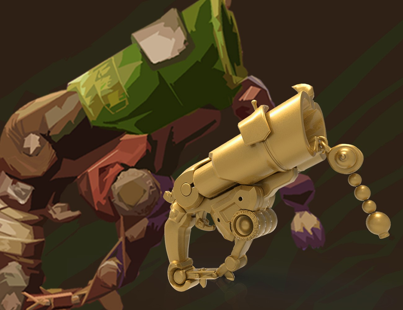 Overwatch Roadhog Gun Bajie 3D print model