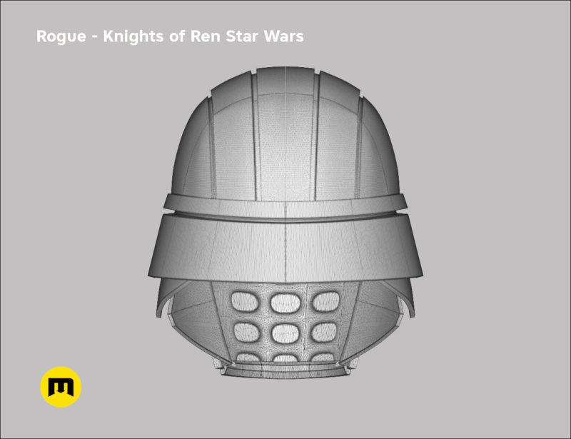 Rogue helmet - Knights of Ren - Star Wars universe 3D print model