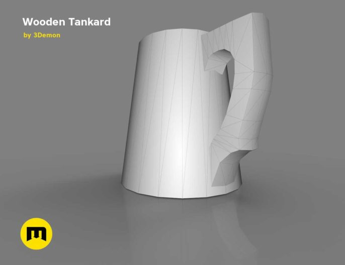 Wooden Historic Tankard Low-poly 3D model