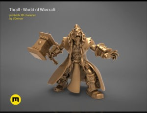 Thrall World of Warcraft 3D print model