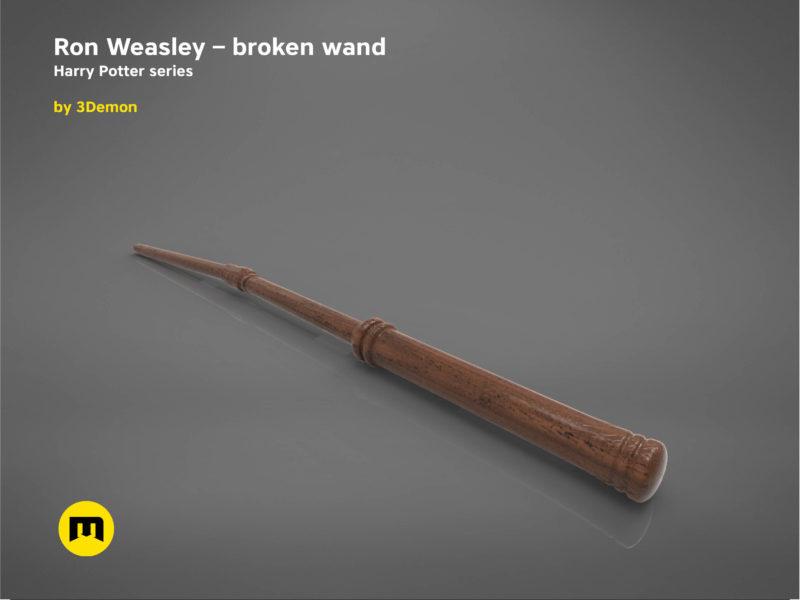 Ron Weasley broken wand - Harry Potter films 3D print model