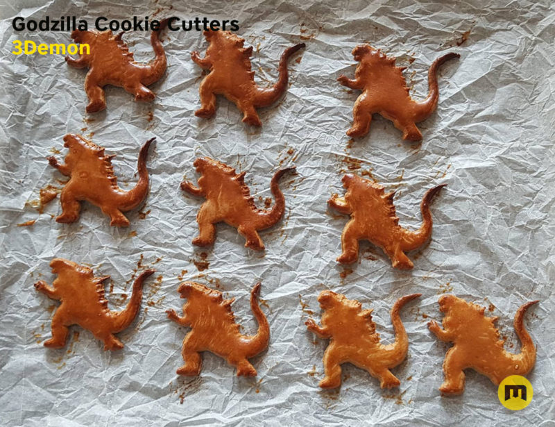 Godzilla Cookie Cutters stl by 3Demon