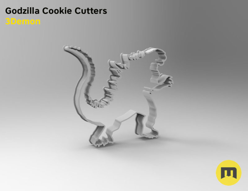 Godzilla Cookie Cutters stl by 3Demon-print1