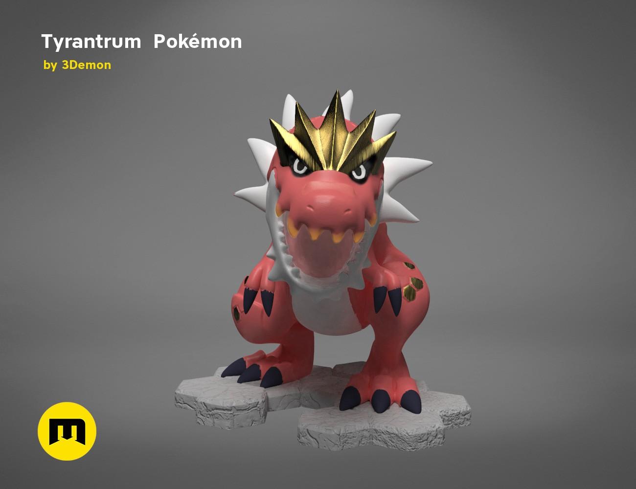Tyrantrum_Game_color 352 – 3Demon – 3D print models download