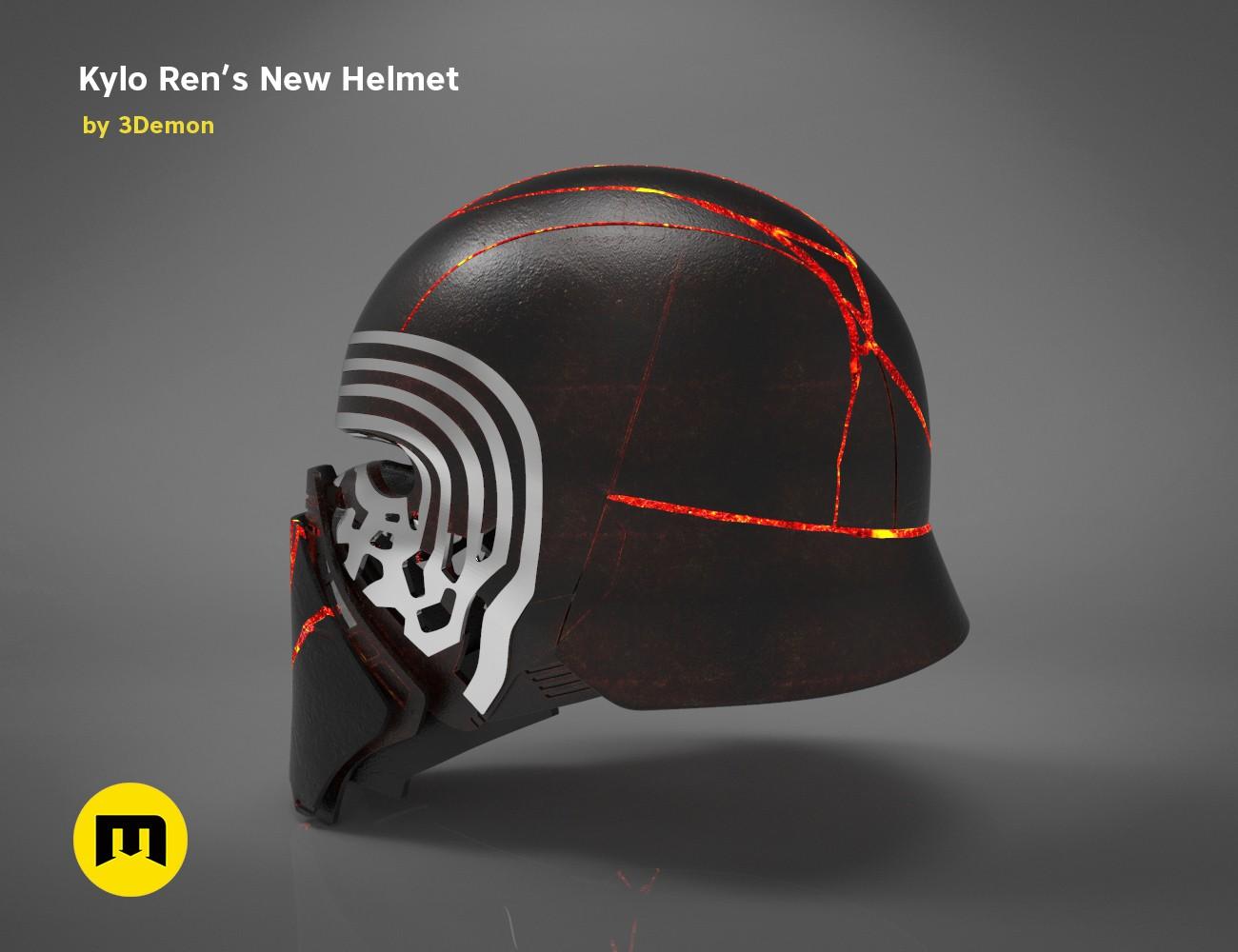 The Kylo Ren Helmet Destroyed Star Wars 3demon 3d Print Models Download
