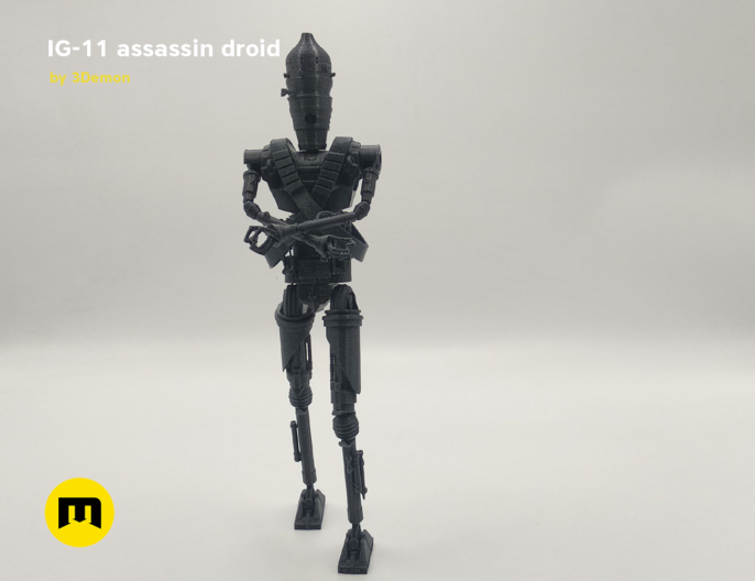 assassin droid ig-11 by 3D-mon