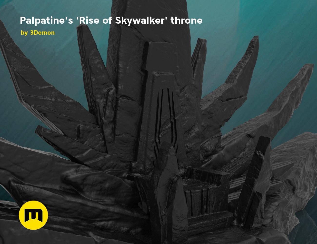 Palpatine S Throne Star Wars 3demon 3d Print Models Download