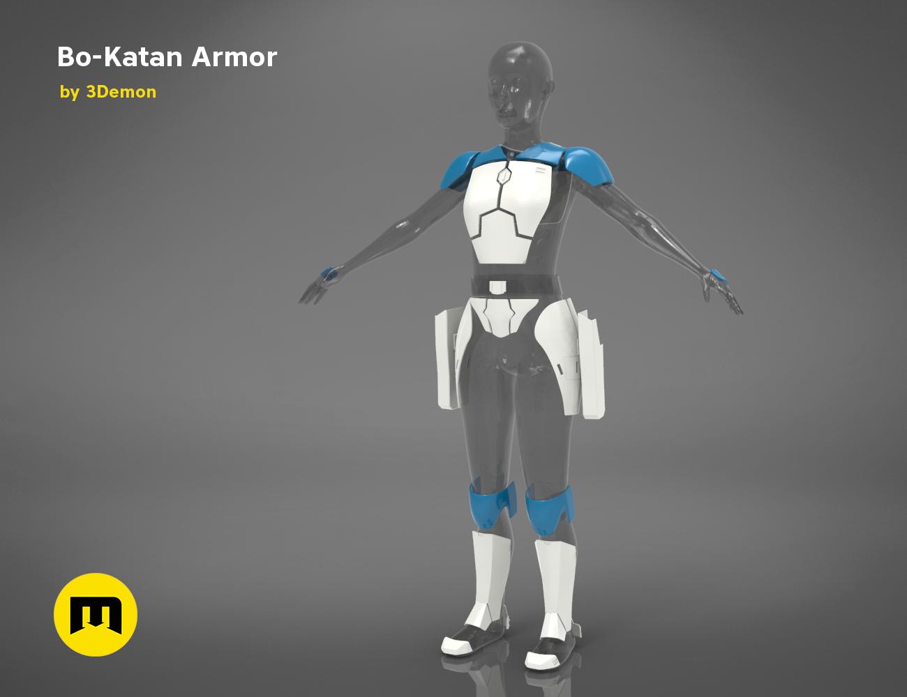 Bo Katan Armor 3demon 3d Print Models Download
