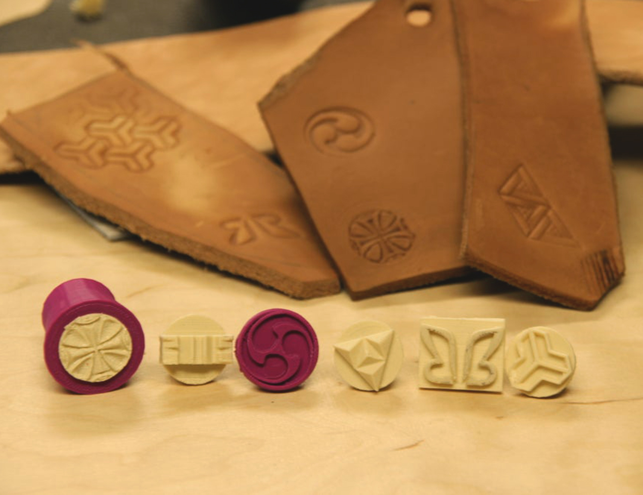 3d printed leather stamps