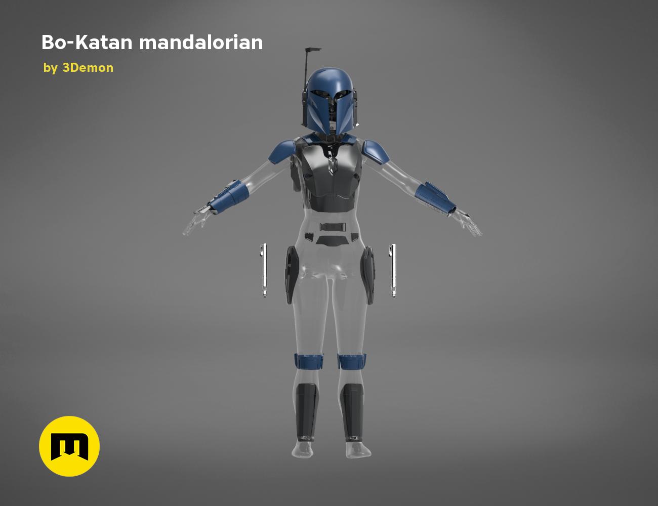 Mandalorian Female Armor Set 1 Star Wars - The Mandalorian Bo Katan Armor Pieces - PDF Pattern for Foam Cosplay